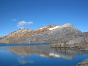 Laguna de la Plaza, Sierra Nevada del Cocuy, en los límites de Boyacá, Casanare y Arauca