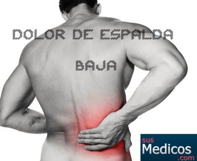 tratamiento dolor espalda baja